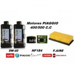 Kit de revision para motores piaggio de 500 cc y 400cc